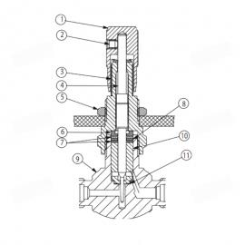 Kit de reparación Caudalímetro Alveógrafo NG