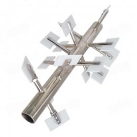 Batidor de compresión con paletas para el equipo simulador de molienda CD1