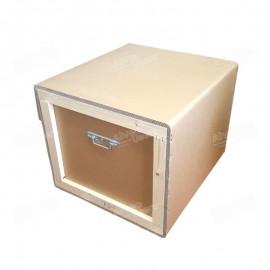 Embalaje protector para el equipo alveográfico AlveoPC para la parte de amasadora para su transporte o almacenaje