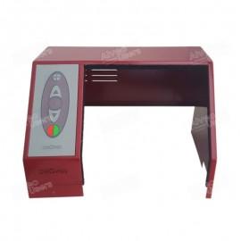 Carcasa metálica del equipo alveográfico NG con teclado de panel de mando incluido y montado