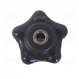 Botón hexagonal negro 50 mm Ø para el equipo de simulación de molienda Molino CD1