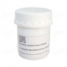 Recarga de cal sodada de 100 gramos para el depósito de cal sodada de los reofermentómetros Rheo F3 y F4